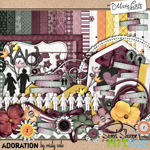 Scrap Set - Adoration PNG and JPG Files