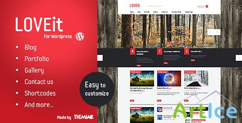 ThemeForest - LOVEit v1.0 - Awesome Wordpress Magazine/blog Theme