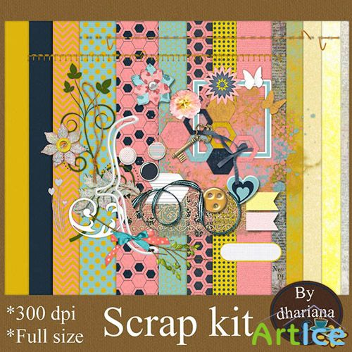 Scrap Set - Spring has Arrived PNG and JPG Files