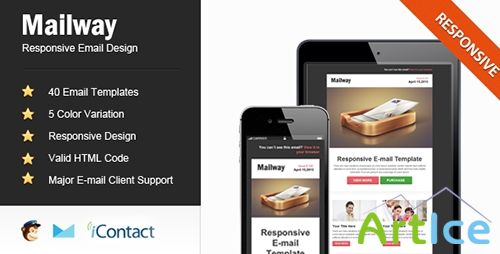 ThemeForest - Mailway - Responsive E-mail Template - RIP