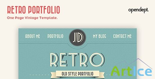 ThemeForest - Retro Portfolio - One Page Vintage Template
