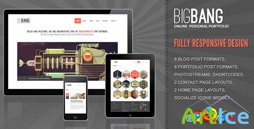 ThemeForest - Bigbang v1.9.1 - Responsive WordPress Template