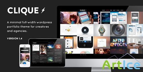 ThemeForest - Clique v1.2 - AJAX Responsive Portfolio WordPress Theme