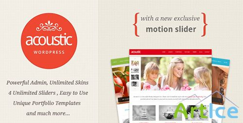 ThemeForest - Acoustic v1.1.1 - Powerful Elegant WordPress Theme