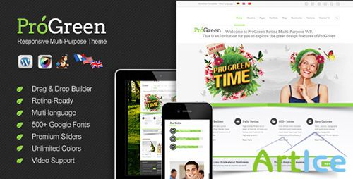 ThemeForest - ProGreen v1.0 - Retina Responsive Multi-Purpose Theme