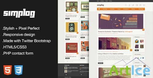 ThemeForest - Simplog - Responsive HTML5 Blog Template - FULL