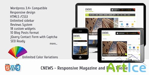 ThemeForest - CNEWS v1.3 - Responsive Magazine and Blog Theme