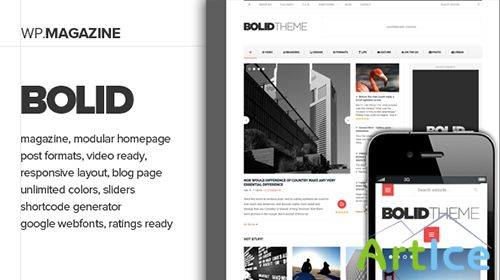 ThemeForest - Bolid - Responsive News, Magazine and Blog Theme