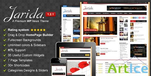 ThemeForest - Jarida v1.2.1 - Responsive WordPress News, Magazine, Blog