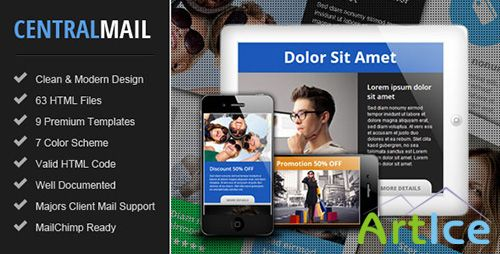 ThemeForest - Central - Responsive Email Newsletter Template - RIP