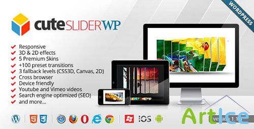 CodeCanyon - Cute Slider WP - 3D & 2D HTML5 WordPress Slider