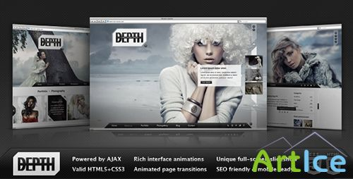 ThemeForest - Depth HTML - Full-Screen AJAX Portfolio - FULL