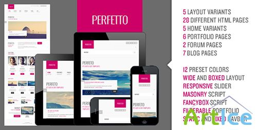 ThemeForest - Perfetto - Responsive Bootstrap Template - RIP
