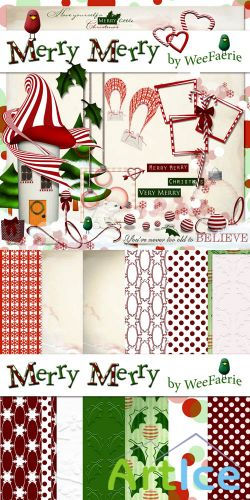 Scrap Set - Merry Merry PNG and JPG Files