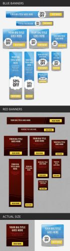 Designtnt - Web Sale Banners Set 1