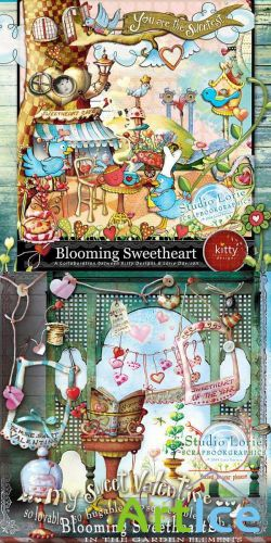 Scrap Set - Blooming Sweethearts PNG and JPG Files