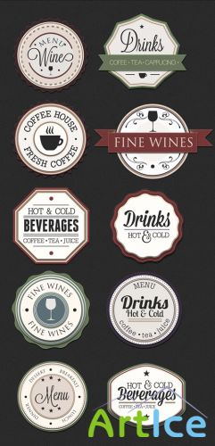 Drinks Badges Set 1
