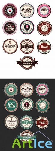 Food Badges Set 1