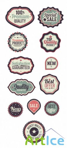 Vintage Badges Set 1