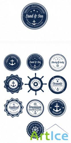 Nautical Badges Set 1