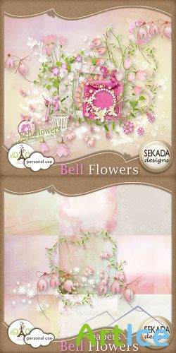 Scrap Set - Bell Flowers PNG and JPG Files