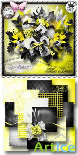 Scrap Set - Yellow Dreams PNG and JPG Files