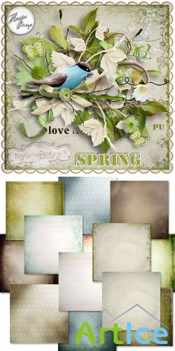 Scrap Set - Spring PNG and JPG Files