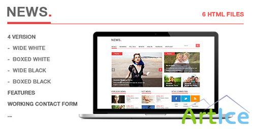ThemeForest - News - Blog, Magazine HTML5 Template - RIP