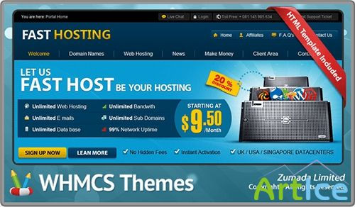 Fast Hosting - Version 5.0 WHMCS 5.x Template