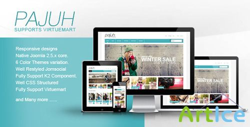 ThemeForest - Pajuh v1.14.3 - Clean and Responsive Virtuemart Templates