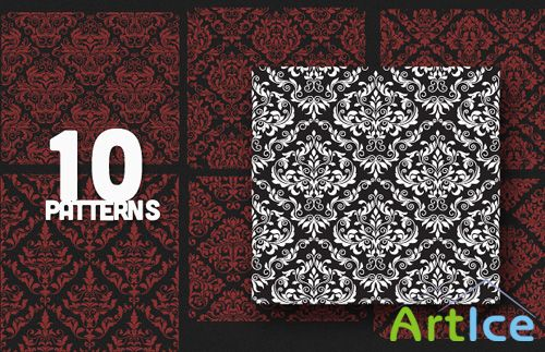 Vintage Patterns Vector Set 29