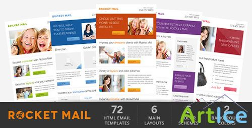 ThemeForest - Rocket Mail - Clean & Modern Email Template - FULL