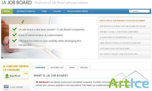JoomlArt - JA Jobboard v1.0.3 - Recruitment Solution for Joomla 2.5x
