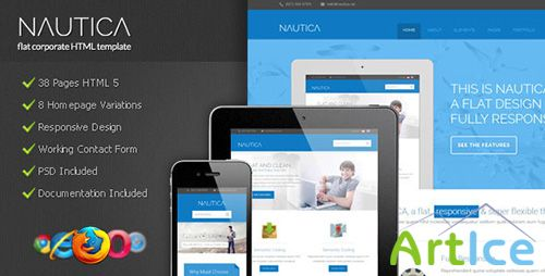 ThemeForest - Nautica - Flat Corporate HTML Template - RIP
