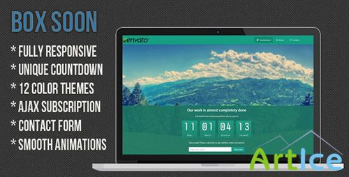 ThemeForest - BoxSoon - Responsive Coming Soon Page - RIP