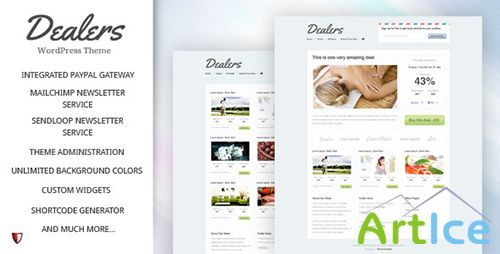 ThemeForest - Dealers v2.0 - Daily Deals WordPress Theme