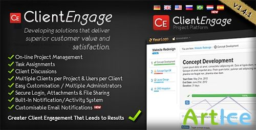 CodeCanyon - ClientEngage Project Platform v1.4.1