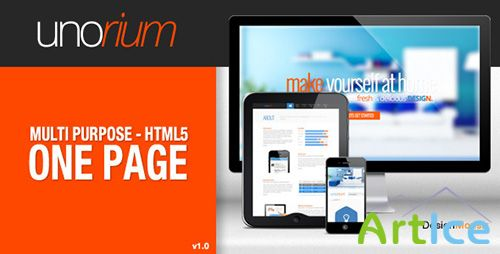 ThemeForest - Unorium - One Page HTML Theme - RIP