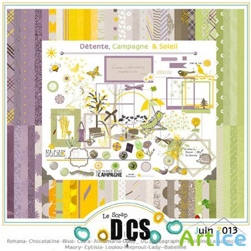 Scrap Set - Detente, Campagne and Soleil PNG and JPG Files