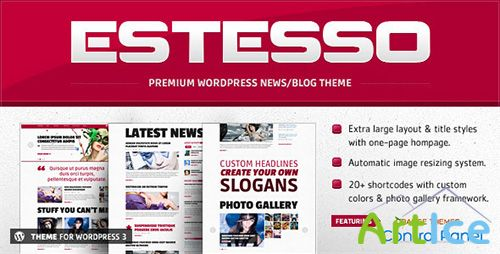 ThemeForest - Estesso v1.2.4 - Modern Experimental Wordpress Theme