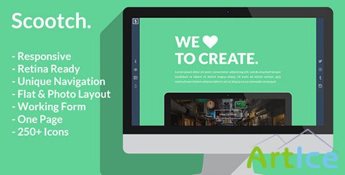 ThemeForest - Scooch - Creative Business or Personal Template - RIP