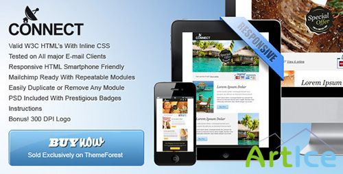 ThemeForest - Connect - Professional Responsive Email Template - RIP