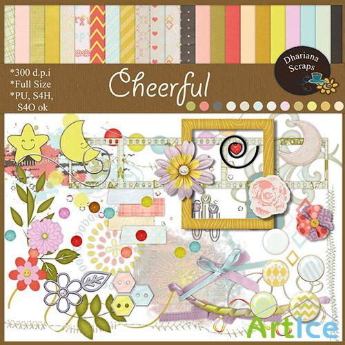Scrap Set - Cheerful PNG and JPG Files