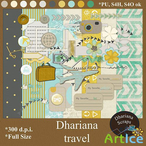 Scrap Set - Dhariana Travel PNG and JPG Files