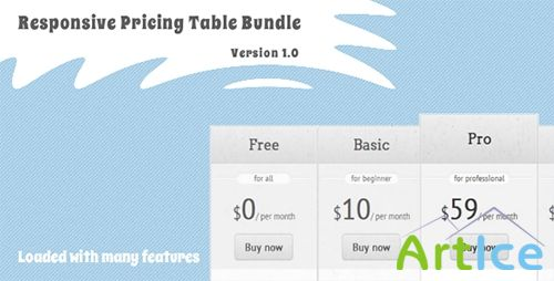 CodeCanyon - Responsive Pricing Table Bundle - Pure CSS