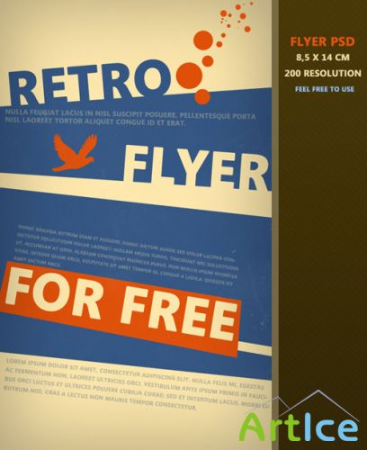 Retro Flyer/Poster PSD Template