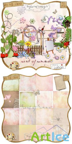 Scrap Set - Scent of Summer PNG and JPG Files
