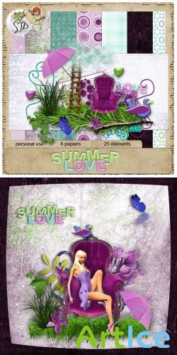 Scrap Set - Summer Love PNG and JPG Files