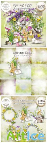 Scrap Set - Spring Eggs PNG and JPG Files