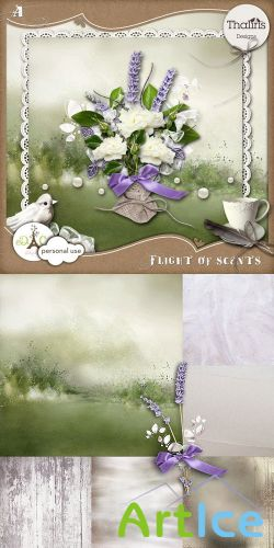 Scrap Set - Flight of Scents PNG and JPG Files
